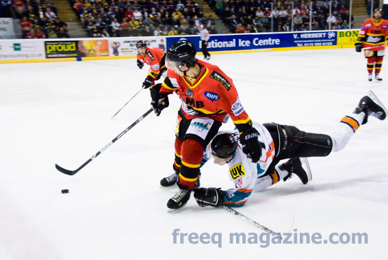Nottingham Panthers and SHeffield Steelers at the NIC